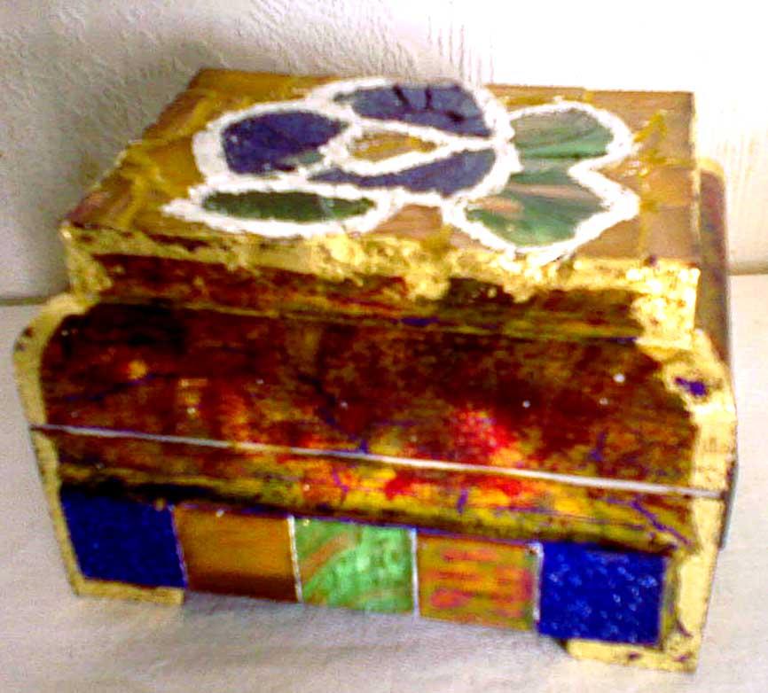 Шкатулка цветок №1 мозаика размер 10